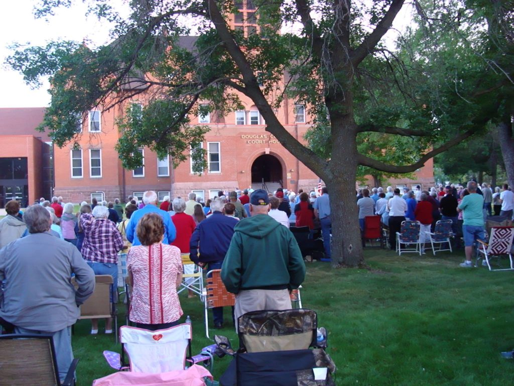 concert on the courthouse lawn