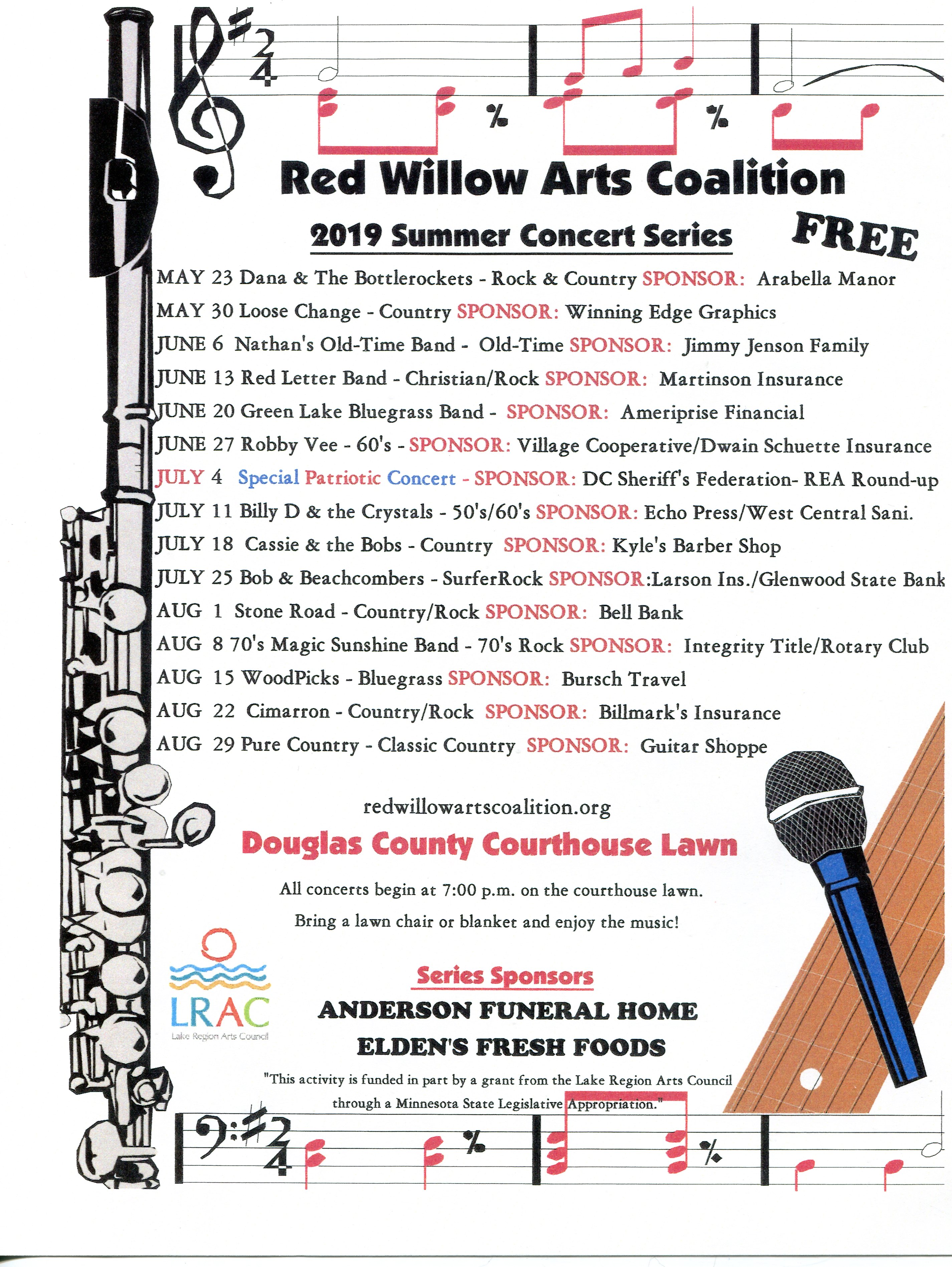 Red Willow Arts Coalition Summer Concert Series