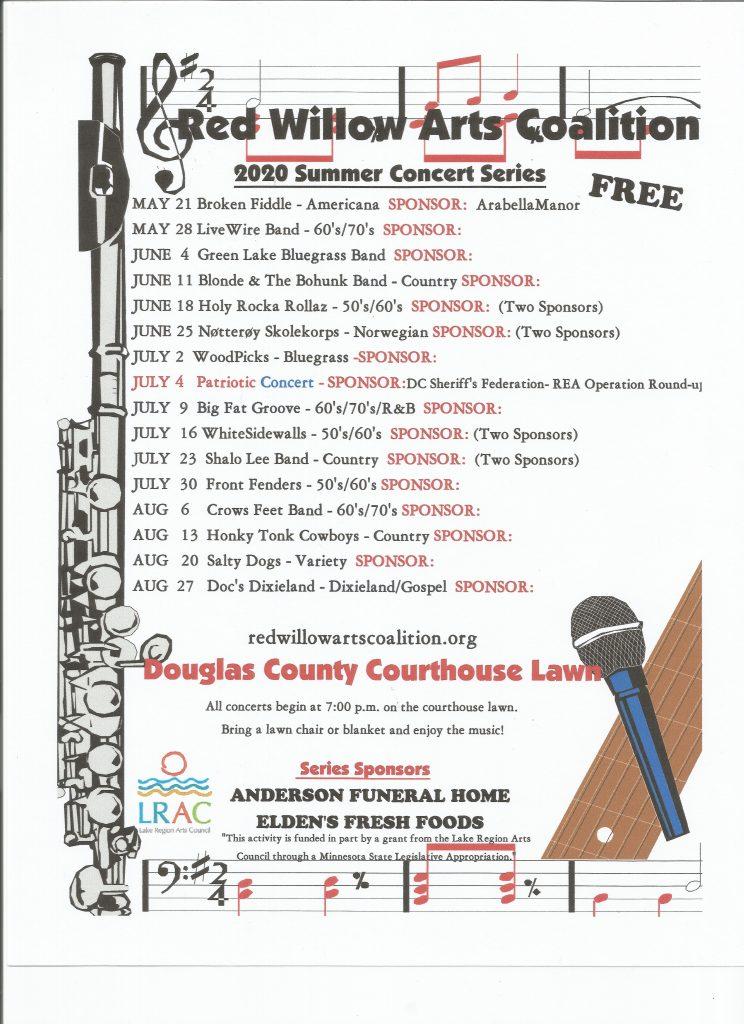 concerts in 2020 alexandria mn
